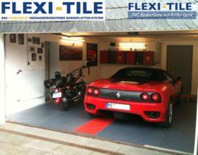 Flexi-Tile PVC Bodenplatten im Garagenbereich - Anwendungsbeispiel Diamond