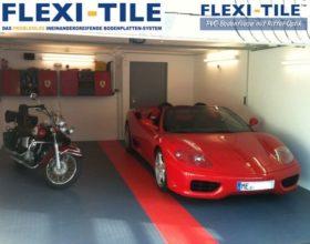 Flexi-Tile PVC Bodenplatten im Garagenbereich - Diamond Anwendungsbeispiel