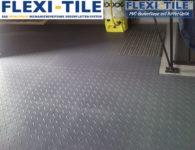Flexi-Tile PVC Bodenplatten im Garagenbereich - Riffel-Optik Diamond - Nahaufnahme