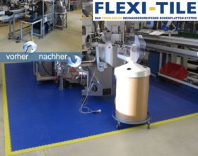 Flexi-Tile PVC Fliesen - Anwendungsbeispiel Arbeitsplatzboden