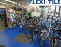 Flexi-Tile PVC-Fliesen als Werkstatt Boden - Fahrrad-Werkstatt