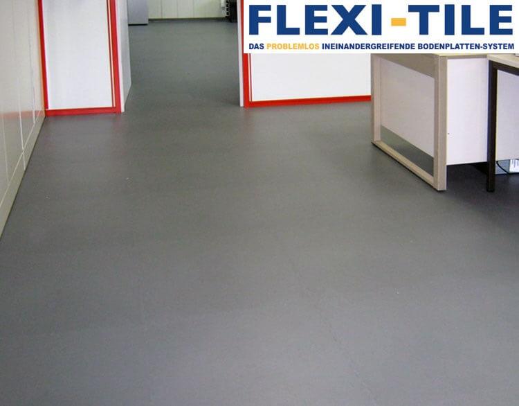 flexi tile pvc fliesen im bu ro als gewerbeboden pvc fu bodenbelag pvc fliesen und. Black Bedroom Furniture Sets. Home Design Ideas