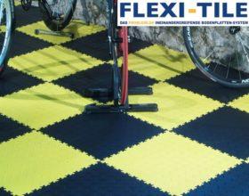 Flexi-Tile PVC Fliesen im Fahrradladen -  Diamond Ausfu¦êhrung