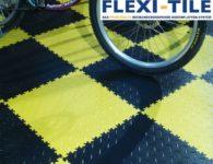 Flexi-Tile PVC Fliesen im Fahrradladen - Diamond Ausfu¦êhrung - Nahaufnahme