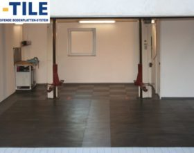 Flexi-Tile PVC-Fliesen im Garagenbereich