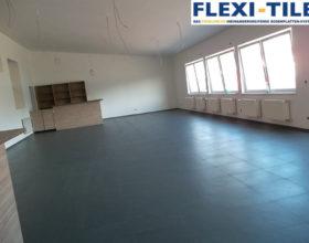 Flexi-Tile PVC-Fliesen im Gewerbe - Hammerschlag-Optik