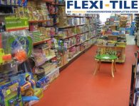 Flexi-Tile PVC-Fliesen im Ladenbereich
