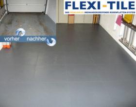 Flexi-Tile PVC-Fliesen verlegt