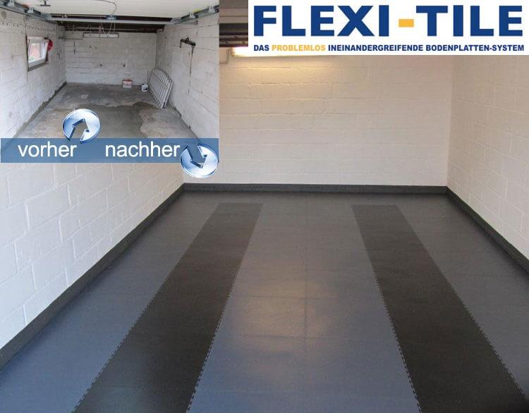 modernisierung ihres heims teil 1 garagenboden pvc fu bodenbelag pvc fliesen und. Black Bedroom Furniture Sets. Home Design Ideas