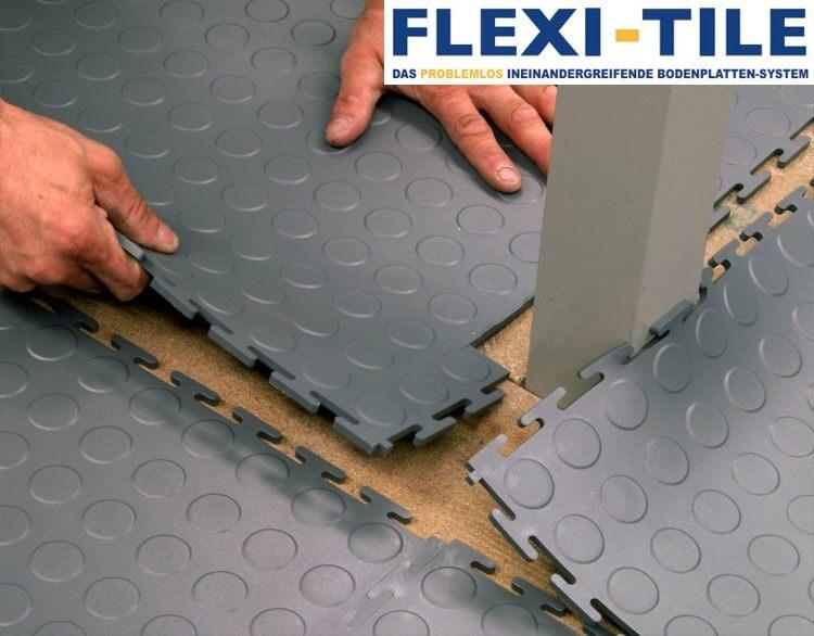 flexi tile verlegung pvc bodenfliesen pvc fu bodenbelag pvc fliesen und industrieboden. Black Bedroom Furniture Sets. Home Design Ideas