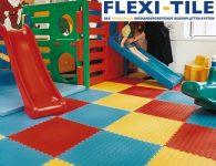 Flexi-Tile als PVC Belag bunt verlegt