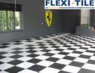 Flexi-Tile als PVC Boden im Schachbrettmuster