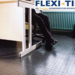 Flexi-Tile als PVC Bu¦êroboden - Genoppte Ausfu¦êhrung