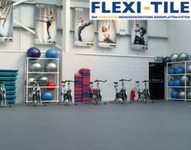 Flexi-Tile als PVC Fitnessboden