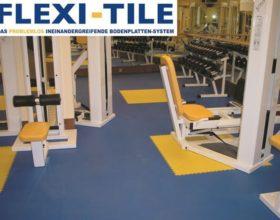 Flexi-Tile als PVC Fitnessboden Fliesen