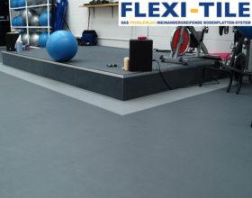 Flexi-Tile als PVC Fitnessbodenbelag