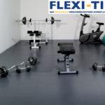 Flexi-Tile als PVC Fitnessbodenfliesen