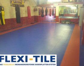 Flexi-Tile als PVC Fitnessbodenfliesen Boxen