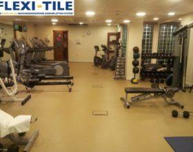 Flexi-Tile als PVC Fitnessbodenfliesen Gym