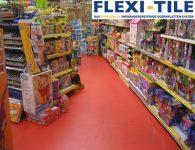 Flexi-Tile als PVC-Fliesen als Boden im Ladenbereich