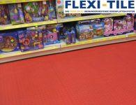 Flexi-Tile als PVC-Fliesenbelag im Ausstellungsbereich