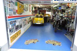 Flexi-Tile als PVC Garagenboden