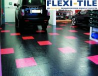 Flexi-Tile als PVC Garagenboden Fliesenbelag