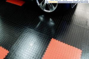 Flexi-Tile als PVC Garagenboden - Nahaufnahme