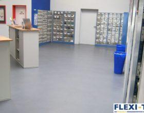 Flexi-Tile als PVC Gewerbeboden