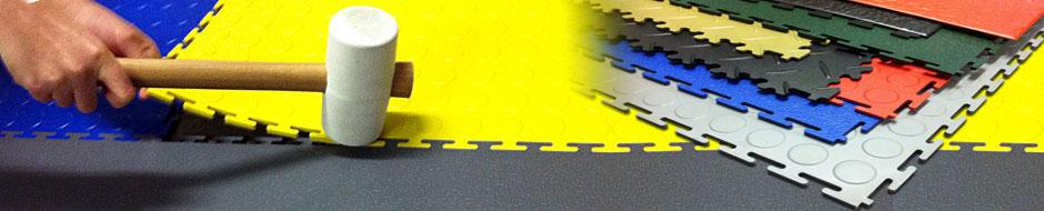 Die Flexi-Tile™ Garagenfliesen aus PVC lassen sich sehr einfach – auch ohne Verklebung – verlegen und sind sofort befahr- und begehbar.