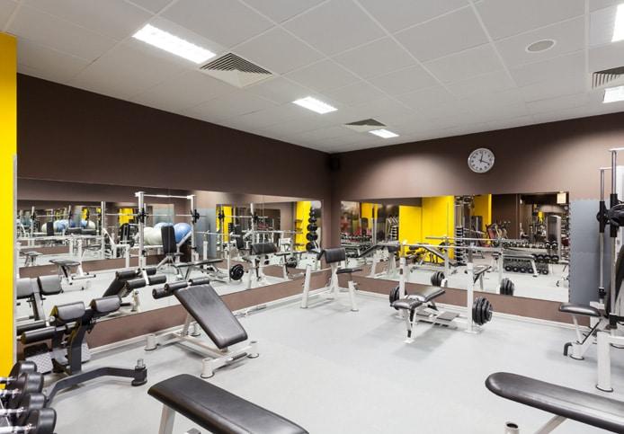 Flexi-Tile als Bodenbelag im Fitnessstudio
