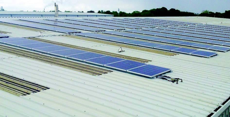 Flexi-Tile setzt auf den kontinuierlichen Gebrauch von CO2-neutralen Energiequellen wie Sonnenenergie und Biomasse-Heizkessel