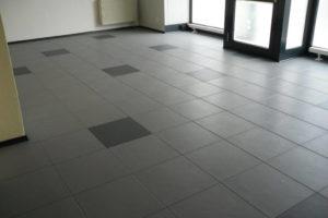 Anwendungsbeispiel Flexi-Tile PVC Boden Eclipse Mini Textured - nachher
