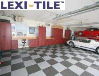 Anwendungsbeispiel Flexi-Tile Genoppte Fliesen im Garagenbereich verlegt