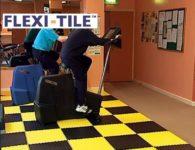 Flexi-Tile Anwendungsbeispiel_Genoppte Fliesen Fitness-Studio