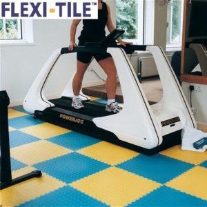 Flexi-Tile Anwendungsbeispiel_Genoppte Fliesen im Fitnessbereich