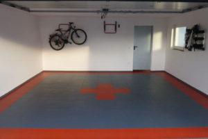 Garagenboden nach Verlegung mit Flexi-Tile