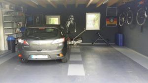 Flexi-Tile als Garagenboden - vorher - nachher - 21008