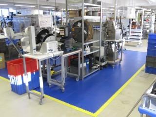 Flexi-Tile als Mattenbereich zur Auslegung eines Arbeitsplatzes