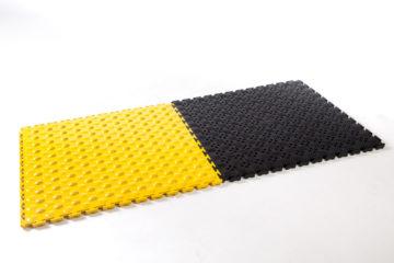 Flexi-Tile OPEN und Comfort zusammen verlegt