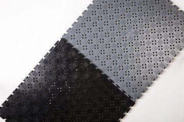Flexi-Tile OPEN 14 Schwarz und Grau